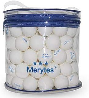 Merytes 120個パック専門試合用三ツ星レベル卓球ボール 40mm ピンポン玉