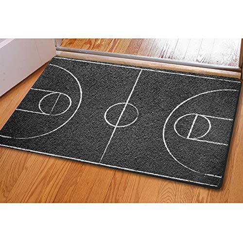 HUGS IDEA - Felpudo de Baloncesto (40 x 60 cm), diseño de Campo, Basketball Field, 40 * 60 cm