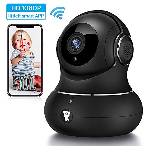 Wifi Camera, Littlelf 1080P Home Security Camera for Baby & Elder, Wireless Camera Indoor with Motion Detection, Reverse Call, 2-Way Audio, Pet Camera Monitor Works with Alexa & Google Home