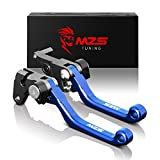 MZS Pivot Levers Brake Clutch CNC compatible Yamaha ATV YFM350 Raptor 350 2005-2013/ YFM400 Big Bear 400 4x4 2002-2012/ YFM450FX Wolverine 450 4x4 2006-2010 (Blue)