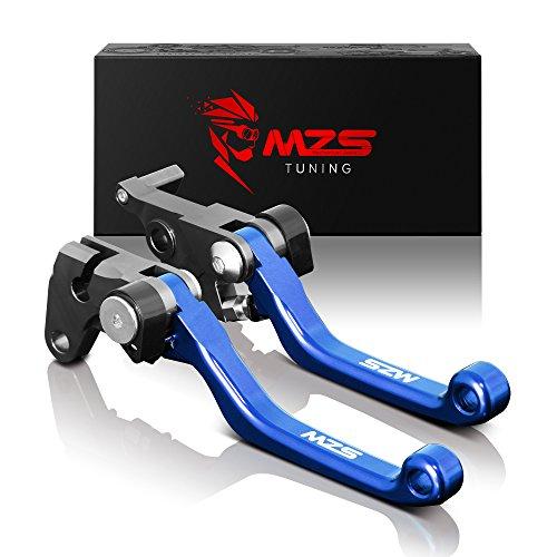 MZS Pivot Levers Brake Clutch CNC Blue Compatible with Yamaha WR250R WR250X 07-17| SEROW 225 250 XT225 XT250| TTR125 L LE LW 00-18 Brake disc| TTR250 93-13| XT250X 06-16| TRICKER 04-16| DT230 97-13