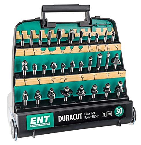 ENT 09030 30-tlg. HM DURACUT Fräser Set in hochweriger Kunststoffkassette - Schaft 8 mm