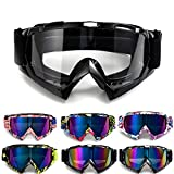 APEBAZY Gafas de motocicleta Motocross Dirt Bike Gafas ATV Off Road Racing Mx Riding Gafas a prueba de viento anti niebla UV gafas de esquí
