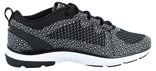 Vionic Women's Flex Sierra Lace-up Walking Shoes - Sneakers with Concealed Orthotic Arch Support Black Charcoal 5 Medium US