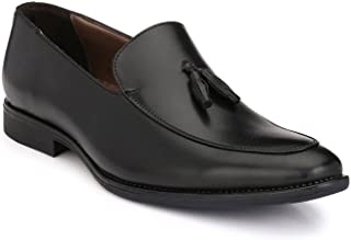 Levanse Black Synthetic Leather Corporate Tassels Shoes for Men/Boys