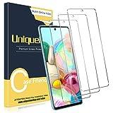 UniqueMe [3 Pack] Protector de Pantalla Compatible con Samsung Galaxy A71 / A71 5G, Vidrio Templado [9H Dureza] HD Film Cristal Templado