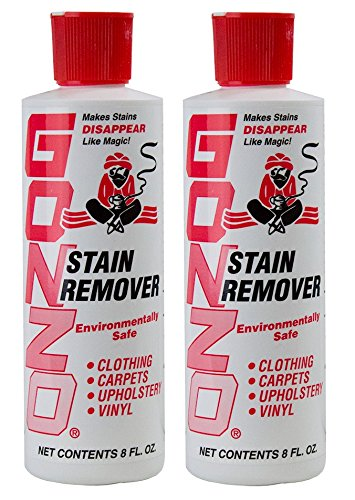 Gonzo Natural Magic Stain Remover - 2 Pack - Non-Toxic Carpet Clothing Sweat Wine Blood Laundry Stain Remover and Cleaner - 8 Ounces