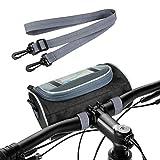 Aujelly Bolsa Manillar Bicicleta Impermeable, Bolsa para Manillar de Bicicletas de Carretera y Bici Montaña de Gran Capacidad, Bolsa Bici con Pantalla Táctil y Correa de Hombro extraíble, 3L