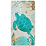 Sea Turtle Beach Towel 31.5'x59.1' Ocean Creature Towelling Beach...