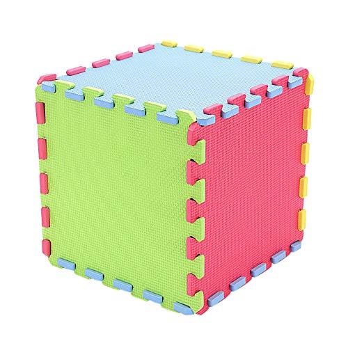 MorNon 10 Alfombra de Puzzle Goma Espuma EVA Alfombras Infantiles de Actividades para Niños y Bebes Foam Encajables para Actividades Infantiles en el Piso (30 * 30 * 1cm)