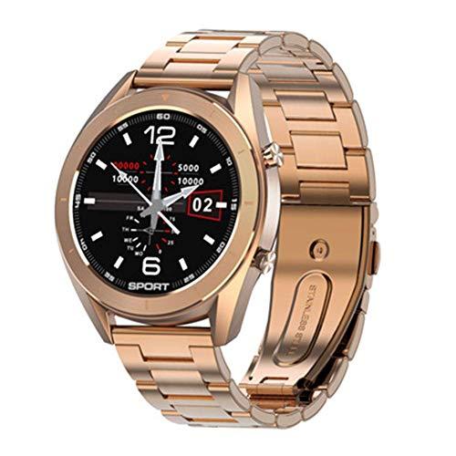 TETHYSUN Reloj inteligente reloj inteligente para hombre, monitor de frecuencia cardíaca, presión arterial, oxígeno IP68, cronómetro, ECG+PPG, reloj inteligente Pk Dt78 L13, E exquisito (color: A)