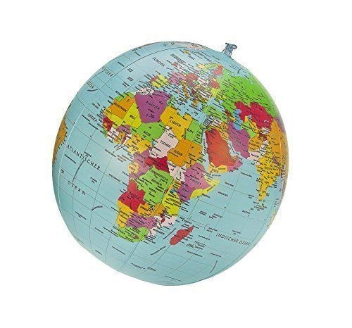 Unbekannt Politischer Globus Wasserball, deutsch, Durchmesser 40cm