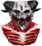 CAISHENY Máscaras Halloween Máscara De Halloween Horn Devil Demon Máscara De Látex Realista Krampus Demon Mask Disfraz De Navidad Headwear Party Horrible Props 1
