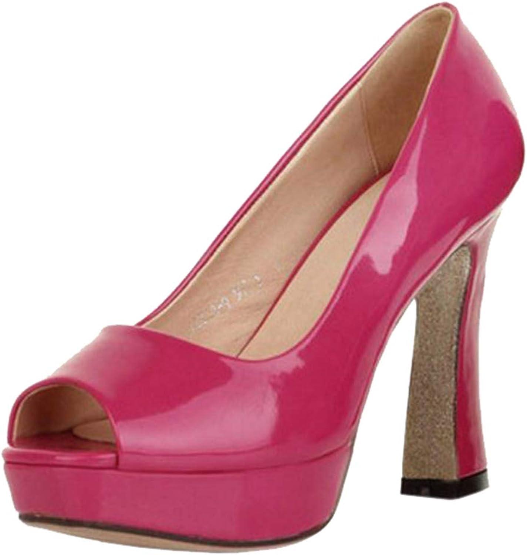 Melady Women shoes Fashion High Heels Pumps Peep Toe