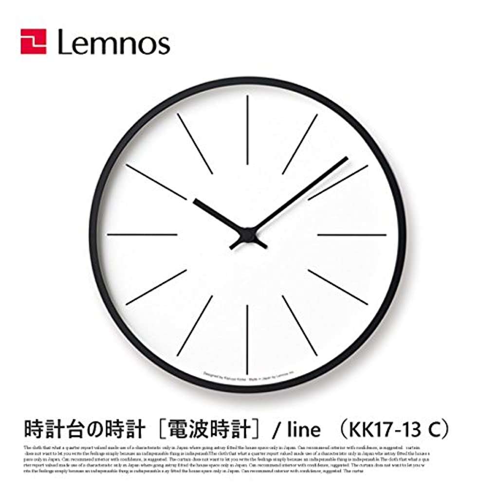 トン後方にペース掛け時計 電波時計 時計台の時計 ライン Line KK17-13 C レムノス Lemnos ウォールクロック