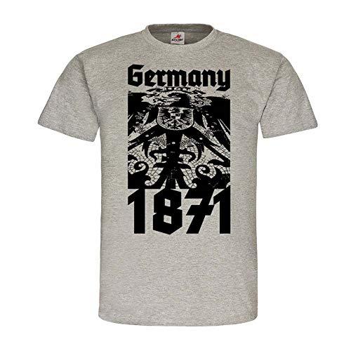 Germany 1871 Deutsches Kaiser-Reich Deutschland Gründung Preußen Adler #24501, Größe:XXL, Farbe:Grau