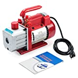 Orion Motor Tech 4.5CFM Single Stage Vacuum Pump (1/3HP, 1/4 inch Flare, 1/2 inch Acme Inlet) for AC HVAC Refrigerant Recharging, Wine Degassing, Milking, Medical, Food Processing (Oil Not Included)