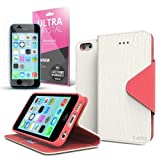 iPhone 5C Case, Cellto Slim PU Leather Wallet Flip Protective Cover with Card Slot and Magnetic Clasp Kickstand for Apple iPhone 5C
