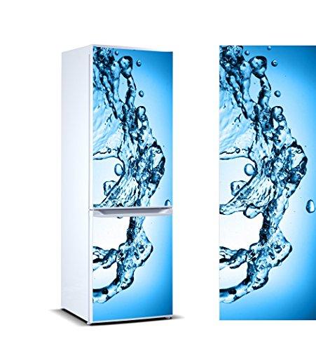 Vinilo para Frigorífico Aguas agitadas | Varias Medidas 185x60cm | Adhesivo Resistente y de Fácil Aplicación | Pegatina Adhesiva Decorativa de Diseño Elegante