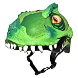Product Image of the Raskullz 2015 Boy's T-Rex Awesome 5+ Kids/Youth Bicycle Helmet (Green - 50-54cm)
