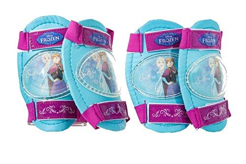 Dino Bikes Disney Princess Set De Protections Coudes et Genoux-Licence Frozen, PROFZ Pads, Bleu