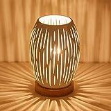 OuXean E27 Lámpara de mesa blanca de 60 W para interior, hogar, iluminación de escritorio simple, luces con alimentación de CA, decoración artística