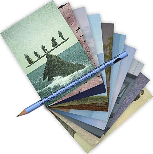 10-er Set Postarten A6 • MIX-0913 ''Postkarten-Set Quint Buchholz 1'' von Inkognito • Künstler: INKOGNITO