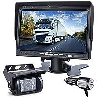 Dvknm IP69 Waterproof 7 Inch LCD Backup Camera Monitor Kit