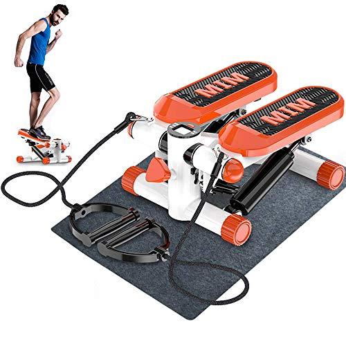 LOVEHOUGE Escalera de fitness Stepper, máquina de pasos ajustable, entrenador de ejercicios cardiovasculares con banda de resistencia y pantalla LCD, 13 x 17 x 8 pulgadas