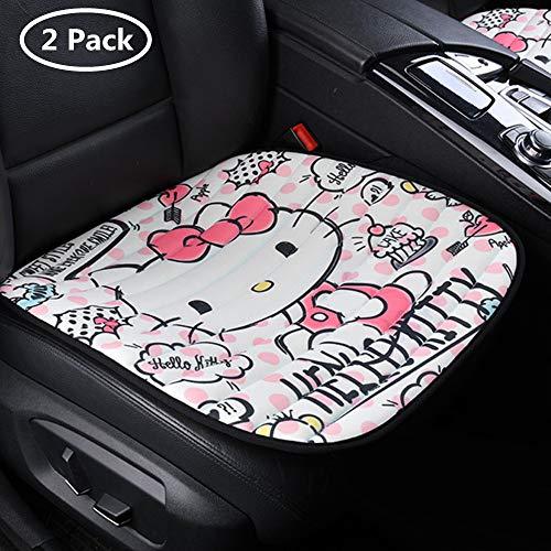 ABYED 2 Pezzi Hello Kitty Anteriori Coprisedile Auto per seggiolino Auto Comune per Quattro Stagioni,BMW