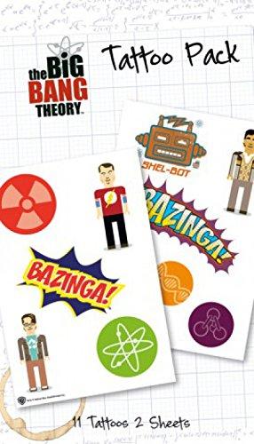 1art1 The Big Bang Theory Paquet De Tatouages - Bazinga, 11 Tatouages (17 x 10 cm)