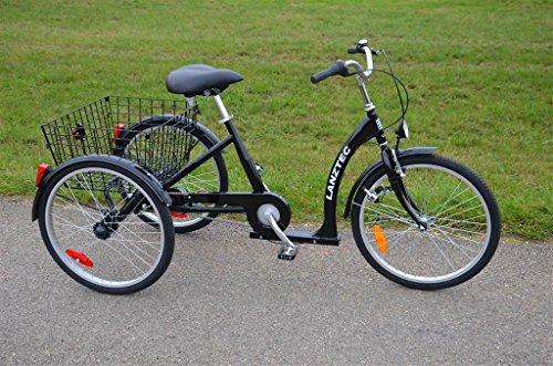 Unbekannt Dreirad für Erwachsene LanzTec Therapie- und Seniorendreirad Schwarz 7 Gang Shimano Nabenschaltung mit Rücktrittbremse