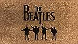 Artisan Kiss The Beatles Coir - Felpudo (fibra de coco sintética, nailon, color gris claro, color marrón y verde