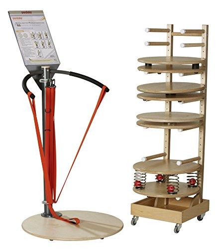 pedalo 5S-Physiostation - Physiotherapie-Set für das Balance und Koordinationstraining - Mobil einsetzbar