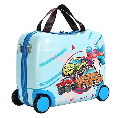 Mdsfe 2020 Bolso de Viaje para niños Caliente Bolsos multifuncionales para niños Lindos Caja de Montar portátil Nuevas Bolsas de Equipaje de Viaje Equipaje - C, 16'