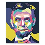 Abraham Lincoln Poster – Pop Art Portrait Druck – Home