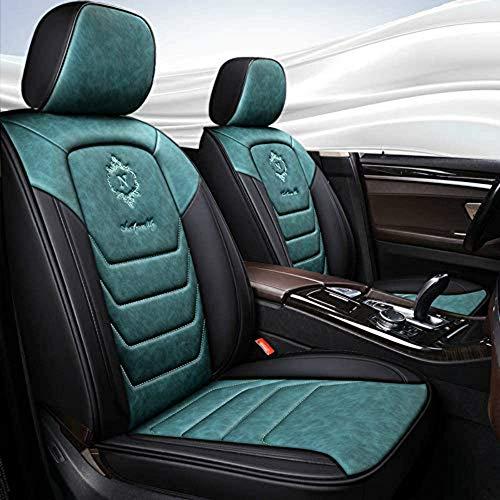 Chemu Fundas de asiento de coche de piel ecológica para Dacia Duster Sandero Stepway 2 Lodgy Logan Dokker 2 Fabia Rapid (verde)