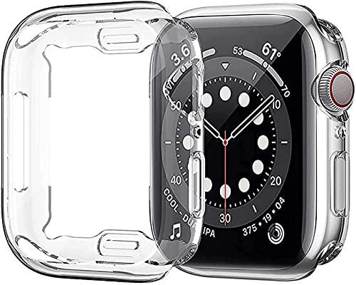 Jasinber 2-Pack Protector de visualización Completa Funda Carcasa Case Transparente Compatible con Apple Watch Series 5 y Series 4...