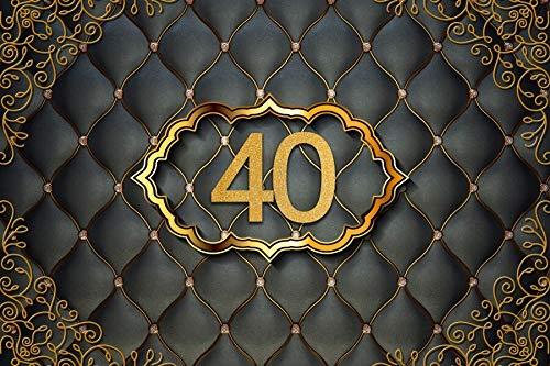 Photographie Toile de Fond Heureux 50 40 30 25 18 fête d'anniversaire Or à Pois Affiche Photo Fond Studio Accessoires A1 9x6ft / 2.7x1.8 m