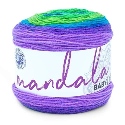 Lion Brand Yarn Company Marca Leone 526–202Mandala Baby Yarn, Acrilico, Mermaid Cove, 13.97x 13.97x 11.43cm