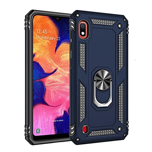 HJKKLL Caja del teléfono del Casco a Prueba de Golpes Fit For Samsung Galaxy A10 A20 A30 A40 A50 A60 A70 A80 A90 5G A10E A20E A10S A20S A30S A50S A70S(Color:Blue,Size:A10E)
