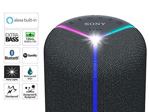 Sony SRS-XB402M Bluetooth-Lautsprecher (EXTRA BASS, integriertes Amazon Alexa, Spotify Connect) schwarz