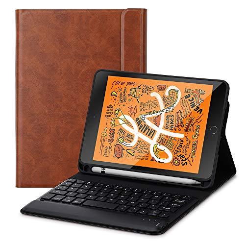 Foluu - Funda con teclado para iPad Mini 5 y 2019 (función atril, cierre magnético), color negro