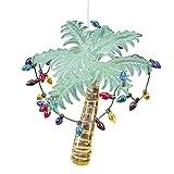 C&F Home Palm Tree with Christmas Lights Beach Coastal Christmas Xmas Ornament Green