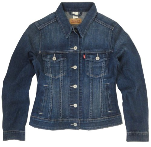 Levis Damen Classic Trucker Jacket, Medium Blue, L