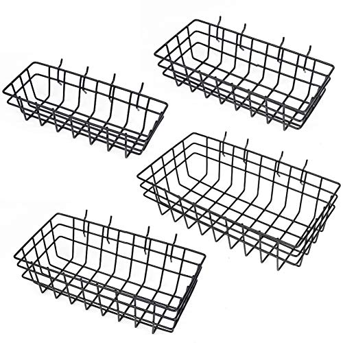 HORUSDY 4 Pack Pegboard Baskets, 4 Size Pegboard Baskets Bins Set for Organizing Various Tools