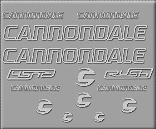 Ecoshirt RZ-85XN-7EYB Aufkleber Cannondale Rush R308 Aufkleber Sticker Decals Sticker silber