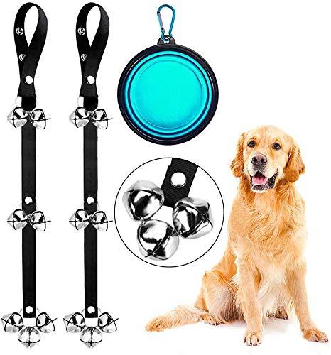"""DOYOO 2 Pack Dog Doorbells Premium Quality Training Great Dog Bells Adjustable Door Bell Dog Bells for Potty Training Your Puppy The Way - Premium Quality - 7 Extra Large Loud 1.4"""" DoorBells"""
