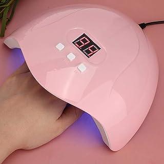 Lámpara para uñas, secador inteligente de esmalte de uñas con sensor inteligente de 54 W, máquina de curado de gel de uñas con fuente de luz dual de tres niveles