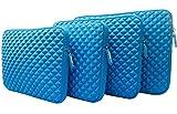 AZ-Cover 10.1-Inch Case Simplicity & Stylish Diamond Foam Shock-Resistant Neoprene Sleeve (Blue) For ASUS T100TAM-C12-GR, 10.1' - Detachable 2-in-1 Touchscreen Laptop + One Capacitive Stylus Pen